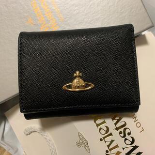Vivienne Westwood - ヴィヴィアンウエストウッド  3つ折り財布  レディースヴィクトリア ブラック