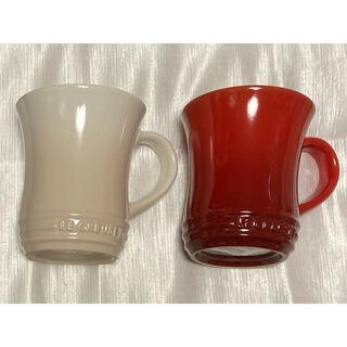 ルクルーゼ(LE CREUSET)のル・クルーゼ ペアマグカップ Mサイズ2個 新品未使用品 美品(グラス/カップ)