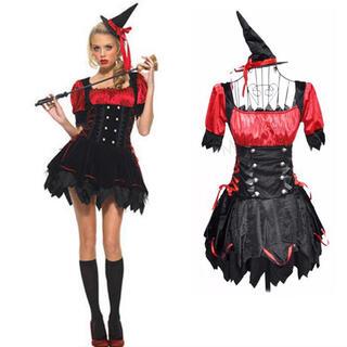 ハロウィンコスプレ 魔女 デビル ハロウィンコスチューム 仮装(衣装一式)
