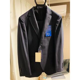 アオヤマ(青山)の新品タグ付 青山 YA5 スリムセットアップスーツ ネイビーストライプ(セットアップ)