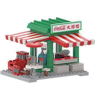 コカコーラ(コカ・コーラ)の【香港限定】香港コカ•コーラ 特色街景模型 香港屋台 大牌檔(模型製作用品)