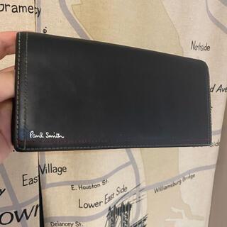 ポールスミス(Paul Smith)のポールスミス ダブルステッチ マルチストライプ 長財布 ブラック(長財布)
