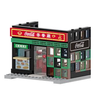 コカコーラ(コカ・コーラ)の【香港限定】香港コカ•コーラ 特色街景模型 香港茶餐廳(模型製作用品)