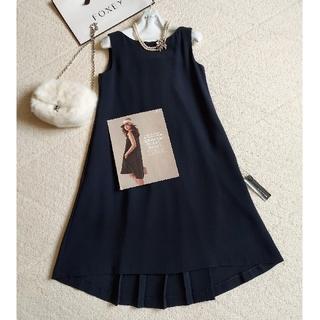 FOXEY - FOXEY❤40『Summer Black Mini Dress』ネイビー
