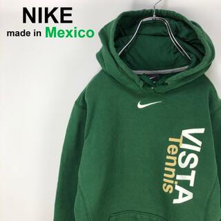 NIKE - 【希少】ナイキ☆メキシコ製 センターロゴ 深緑 スウェット パーカー フーディ