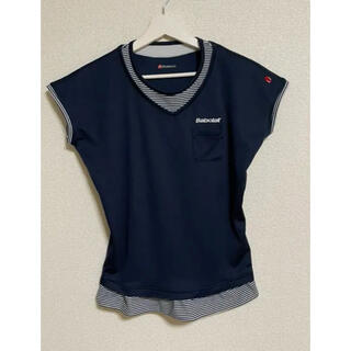バボラ(Babolat)のバボラ チュニックシャツ濃紺 M(ウェア)