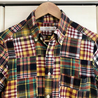 BEAMS - BEAMS LIGHTS 日本製 パッチワークチェックシャツ Sサイズ
