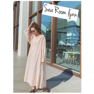 シールームリン(SeaRoomlynn)のSWセール⭐完売サクラ⭐searoomlynn⭐コットンWASHシャツワンピース(ロングワンピース/マキシワンピース)