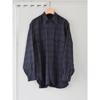 COMOLI - COMOLI 21AW ウールシルクワークシャツ サイズ3 ネイビー 新品未使用