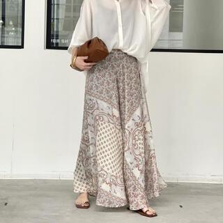 L'Appartement DEUXIEME CLASSE - L'Appartement 【ブルー ボヘム】Silk Long Skirt