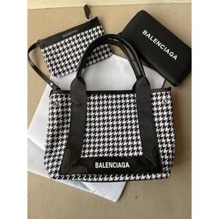 バレンシアガバッグ(BALENCIAGA BAG)の超美品!バレンシアガ 千鳥格子柄 ネイビーカバ ショルダーバッグ(ショルダーバッグ)