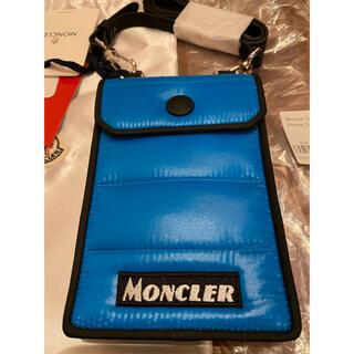 モンクレール(MONCLER)の【新品未使用】モンクレール フォン ケース ブルー ショルダーバッグ スマホ (ショルダーバッグ)