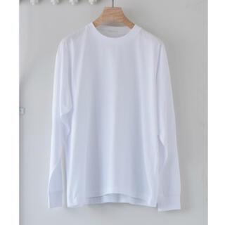 コモリ(COMOLI)のCOMOLI 21SS 空房天竺長袖クルー WHITE 1(Tシャツ/カットソー(七分/長袖))