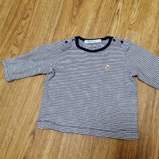 familiar - ファミリア ボーダーTシャツ 70