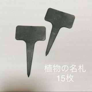 植物の名札 園芸ラベル 黒 15枚(その他)