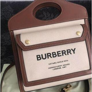 BURBERRY -  バーバリー ショルダーバッグ  ミニ ツートン キャンバス