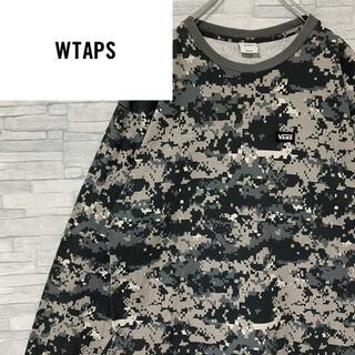 ダブルタップス(W)taps)の【激レア】wtaps✖︎VANS ロンT カモフラ BOXロゴバックプリント(Tシャツ/カットソー(七分/長袖))