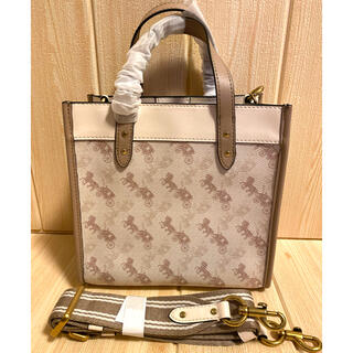 COACH - COACH☆field tote 22 with ホースandキャリッジ 大人気