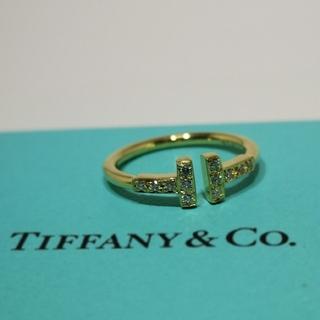 Tiffany & Co. - ★Tiffany&Co.★ ワイヤーリング ダイヤパヴェ、イエローゴールド