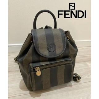 フェンディ(FENDI)の【FENDI】フェンディ ペカン柄 バックパック リュックサック ミニバッグ(リュック/バックパック)