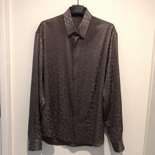 ディオール(Dior)のDIOR ディオール 19AW レイモンド レオパードシャツ パープル 希少(シャツ)