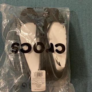 crocs - クロックス スローンフラット W9 ブラック