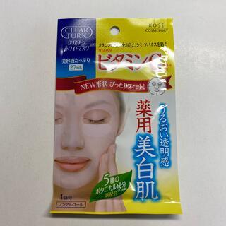 クリアターンホワイトマスク ビタミンC 1パック(パック/フェイスマスク)