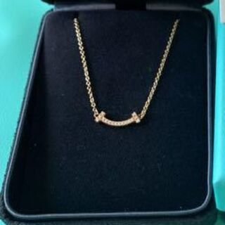 Tiffany & Co. - 美品!Tiffany ティファニー スマイルミニ ダイヤモンドネックレス
