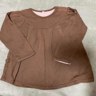 MUJI (無印良品) - 無印良品 トップス ロンT 100サイズ 長袖 茶色