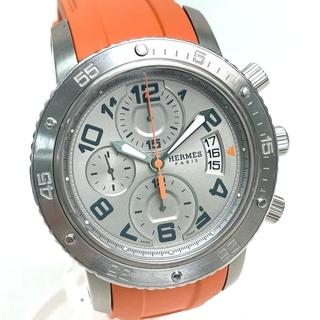 エルメス(Hermes)のエルメス CP2.941 クリッパーダイバー 裏スケ メンズ腕時計 シルバー(腕時計(アナログ))