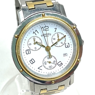 エルメス(Hermes)のエルメス CL1.920 クリッパー メンズ腕時計 シルバー/ゴールド(腕時計(アナログ))