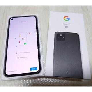 Google Pixel - Google pixel 5 ブラック SIMロック解除済み