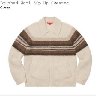 Supreme - 【L】 Supreme Brushed Wool Zip Up Sweater