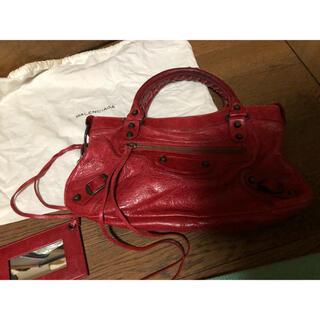 バレンシアガバッグ(BALENCIAGA BAG)の美品 バレンシアガ バック 赤(ハンドバッグ)