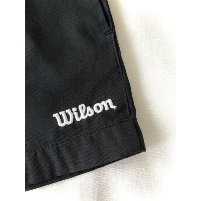 wilson(ウィルソン)の【美品】ウィルソン『刺繍ロゴ ナイロンショートパンツ』テニス/ブラック/M スポーツ/アウトドアのテニス(ウェア)の商品写真