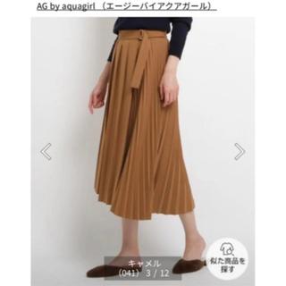 エージーバイアクアガール(AG by aquagirl)の☆美品☆ AG エージーバイアクアガール デザインプリーツスカート裏地付き S(ロングスカート)