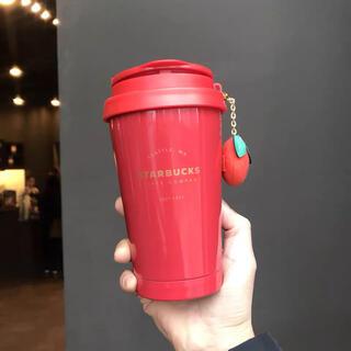 スターバックスコーヒー(Starbucks Coffee)の海外 スターバックス 20ニューイヤー ストラップ ステンレス タンブラー(タンブラー)