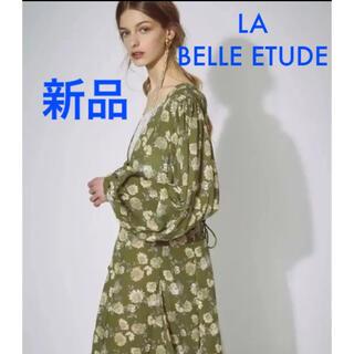 ラベルエチュード(la belle Etude)の新品タグ付き ラベルエチュード ヴィンテージ レースフラワーワンピース(ロングワンピース/マキシワンピース)
