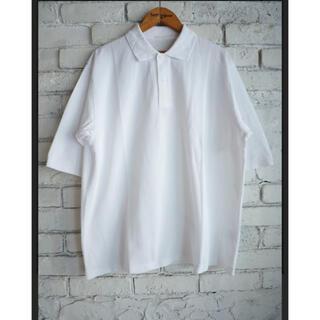 COMOLI - COMOLI 19SS 鹿の子半袖ポロシャツ WHITE 2