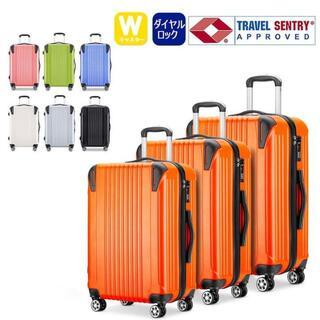 小型軽量スーツケース8輪静音キャリーバッグ TSAロック機内持込Sサイズオレンジ(旅行用品)