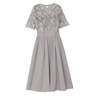 ラグナムーン(LagunaMoon)の新品タグ付き ラグナムーン ドレス ワンピース 結婚式 二次会 パーティー(ミディアムドレス)