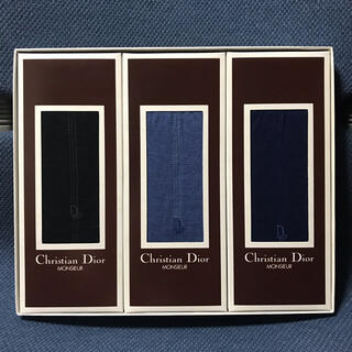 クリスチャンディオール(Christian Dior)のChristian Dior靴下(ソックス)3足セット(ソックス)