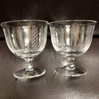 ボヘミア クリスタル(BOHEMIA Cristal)のボヘミアクリスタル切子冷酒グラス【未使用】クリスタルグラス(グラス/カップ)