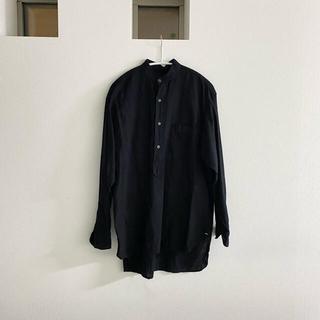 COMOLI - お値下げ中❗️comoliコモリ ベタシャンコットンバンドカラーシャツ黒ブラック