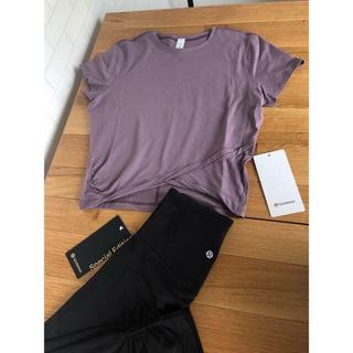 lululemon - lululemon ルルレモン Do The Twist Crop Tシャツ