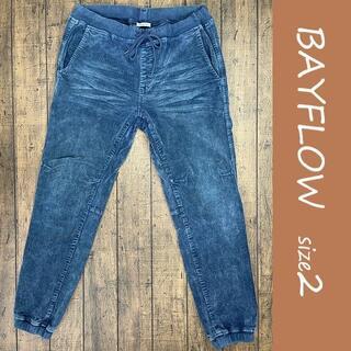 BAYFLOW - BAYFLOW ジョガーパンツ/ベイフロー、裾リブ、ストレッチ、ルームウェア