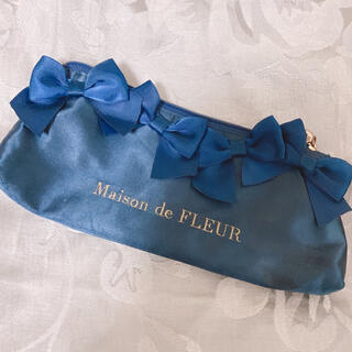 メゾンドフルール(Maison de FLEUR)のメゾンドフルール 筆箱 ネイビー(ペンケース/筆箱)