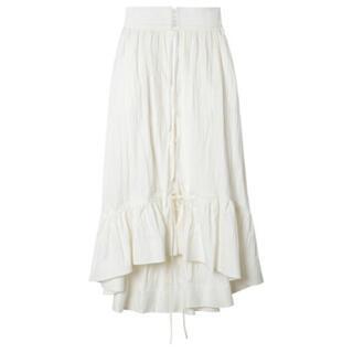ルシェルブルー(LE CIEL BLEU)のIRENE コットンスカート 新品未使用(ロングスカート)