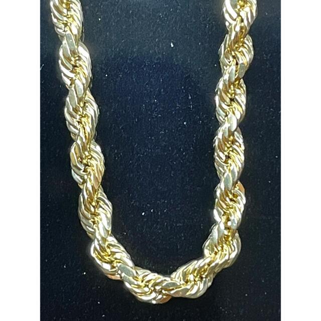 AVALANCHE(アヴァランチ)の10K イエローゴールド ロープチェーン 45センチ 2.1g メンズのアクセサリー(ネックレス)の商品写真