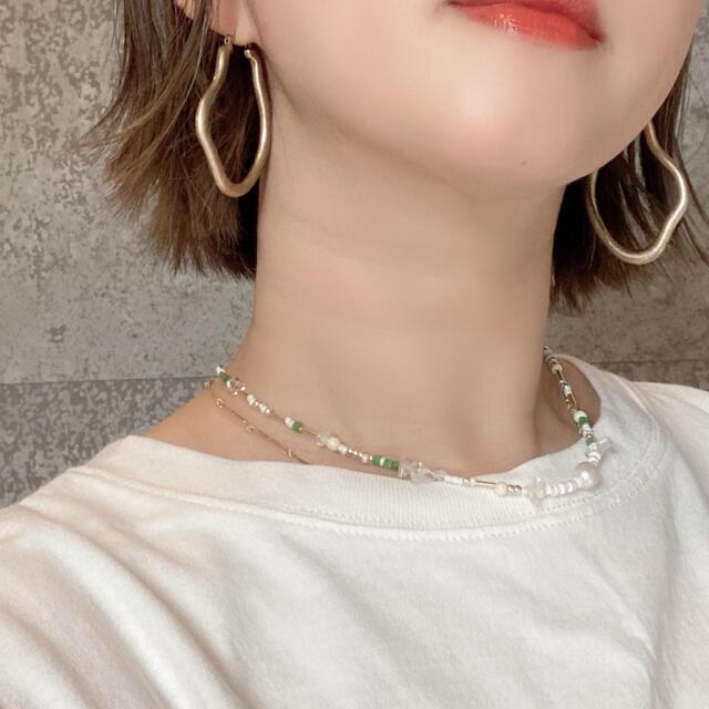 【96】再販green ハンドメイドのアクセサリー(ネックレス)の商品写真